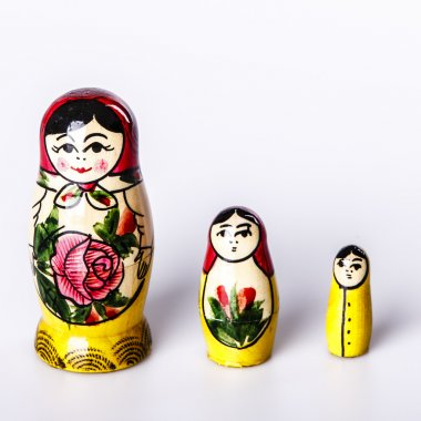 Russian Dolls Matryoshka Isolated on a white background