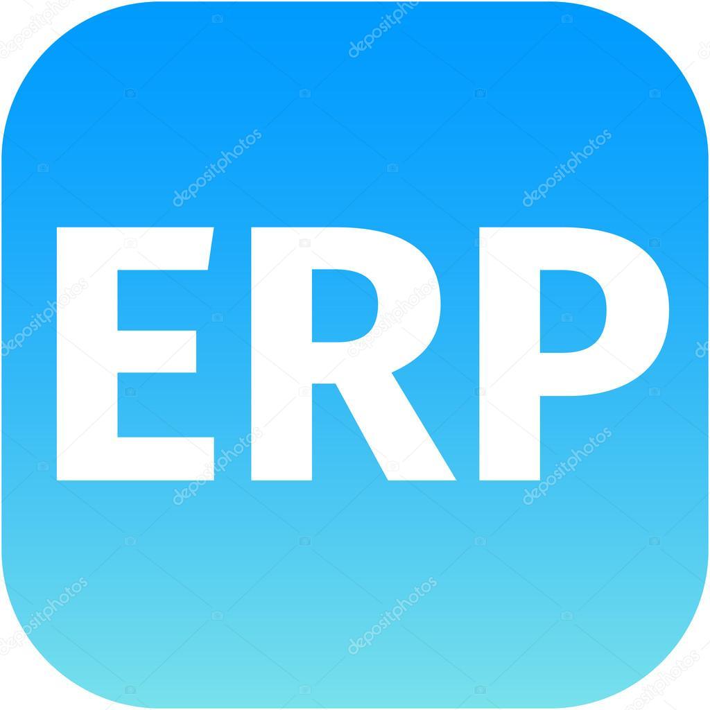 modern erp icon in blue stock photo jarin13 49171673