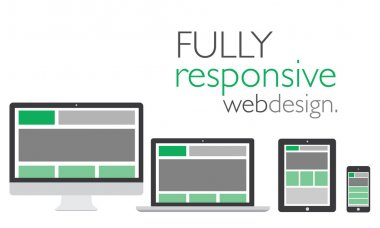 Fully responsive web design in electronic icon devices vector stock vector