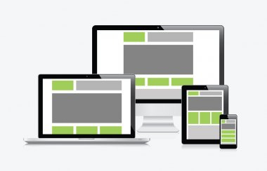 Modern responsive web design in electronic devices vector eps10