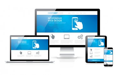Scalable and flexible modern responsive web design concept vector EPS10
