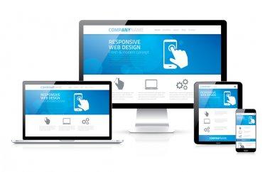 Scalable and flexible modern responsive web design concept vector EPS10 stock vector