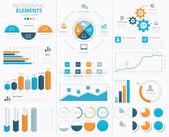 velké infographic vektorové prvky kolekce zobrazení dat
