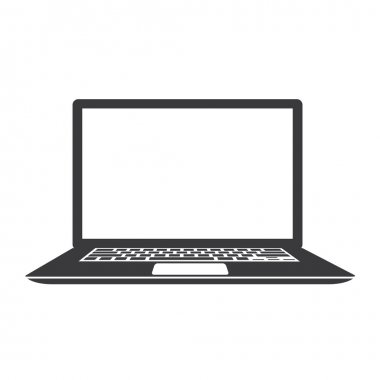 Laptop vector illustration icon isolated on white background