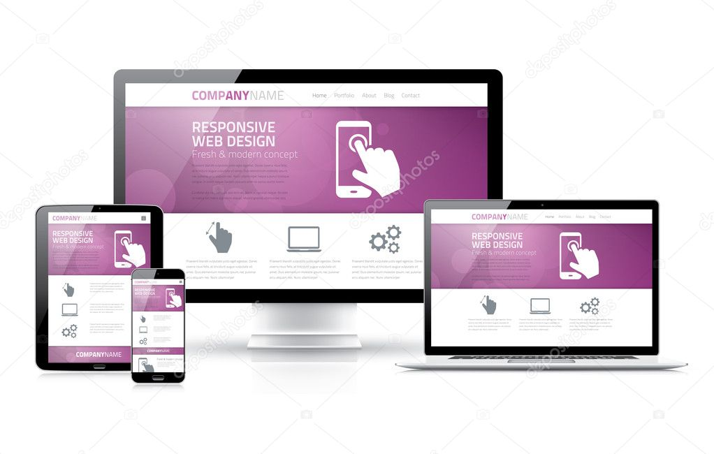 Scalable and flexible html, css, marketing responsive web design concept vector