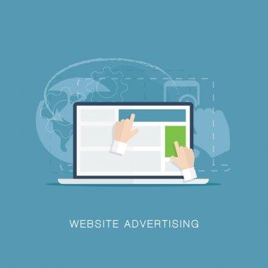 Flat website banner advertising vector illutration concept