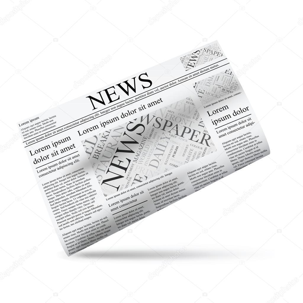 plantilla de periódico vector ilustración icono — Vector de stock ...