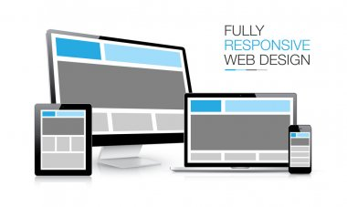 Fully responsive web design electronic devices vector illustration