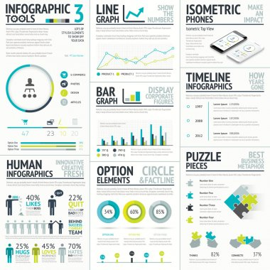 Business and human vector infographic element big set collection