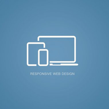 Vector illustration of responsive web design in laptop, tablet and smartphone stock vector