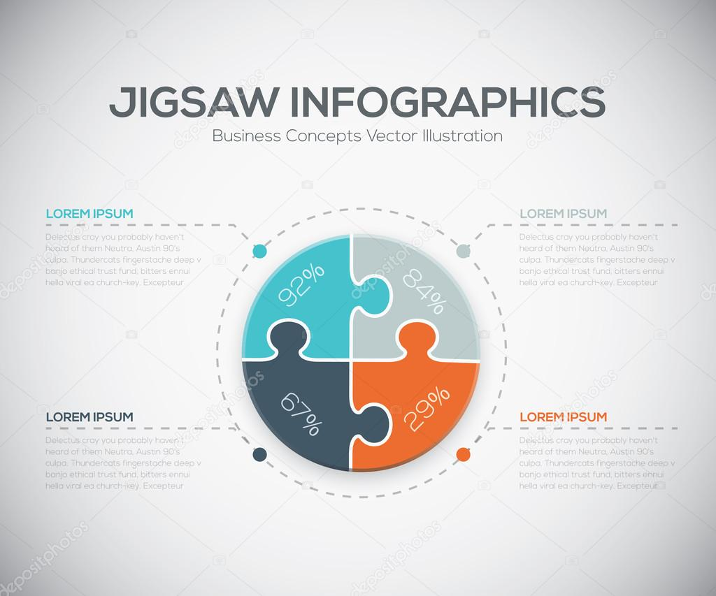 Jigsaw infographics vector business puzzle piece fresh template jigsaw infographics vector business puzzle piece fresh template stock vector ccuart Choice Image