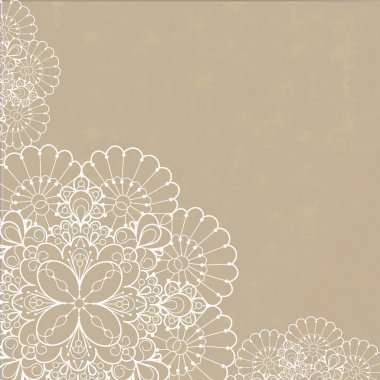 Retro background with lace ornament