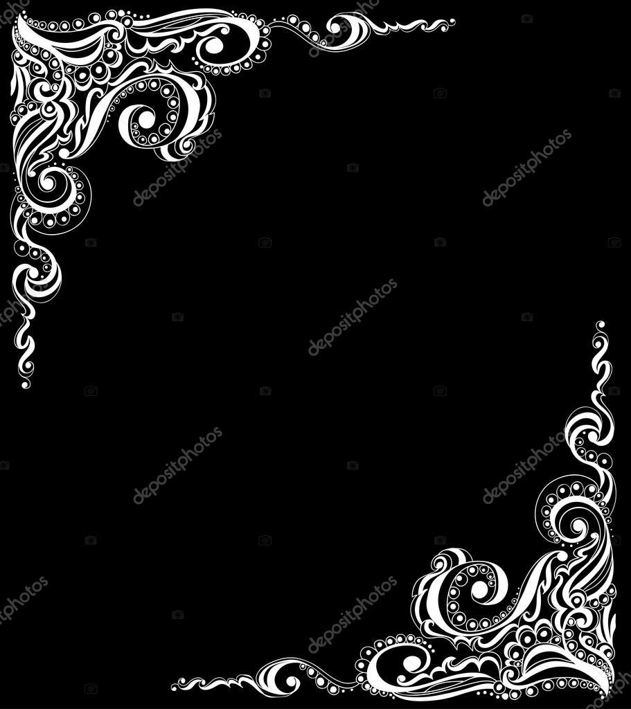 patrón abstracto tatuaje floral — Vector de stock © Olga_Lebedeva ...
