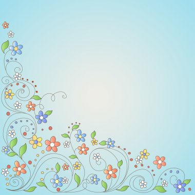 Background with flowers, vector illustration stock vector