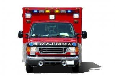Ambulance ssolated on a white background