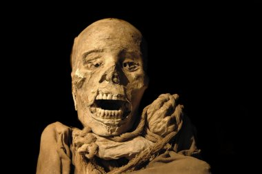 Peruvian ancient inca mummy