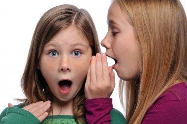 Two girls sharing a gossip