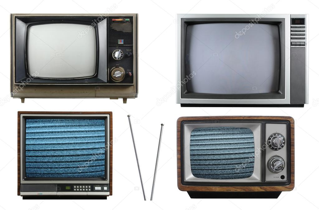 Viejos televisores antiguos foto de stock carlosphotos for Fotos de televisores