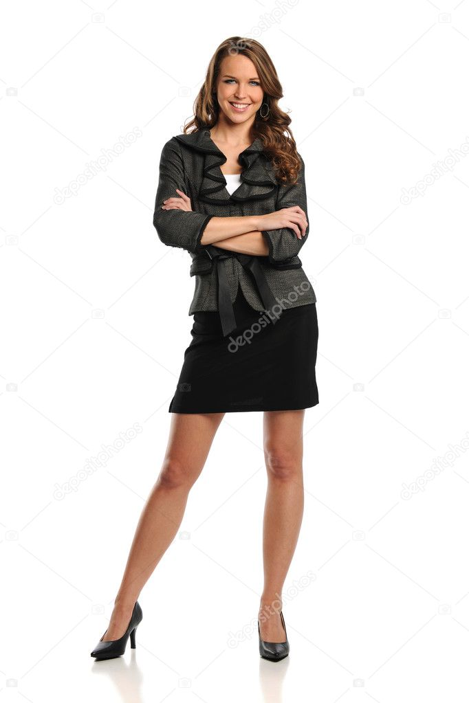Young Businesswoman with her arms crossed
