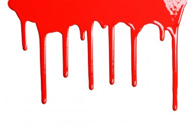 Red dripping paint