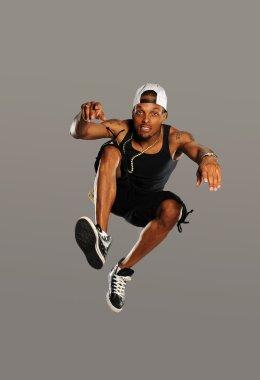 Hip Hop style dancer jumping