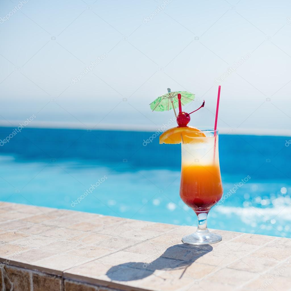 Cocktail at the pool