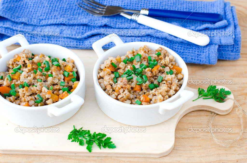 гречка с тушеными овощами при диете