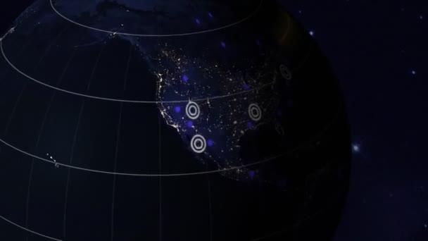země, komunikace, sítě, modré