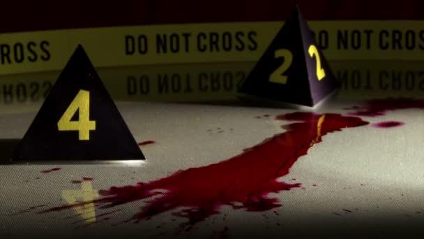 vyšetřování trestných činů, skvrny od krve