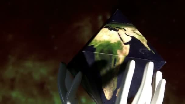 Earth in double pyramid
