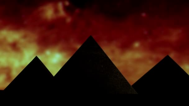 Egyptian pyramid, silhouette