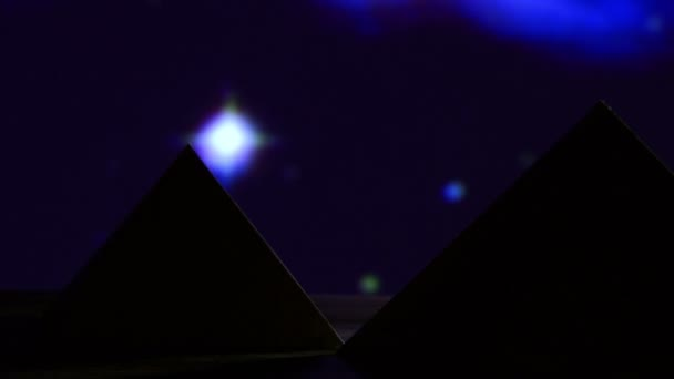 Egyptian pyramid, blue