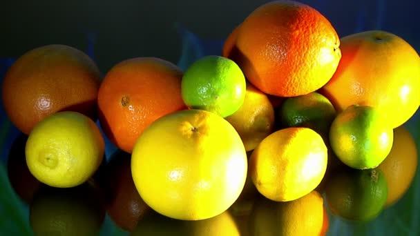 Fruits, Citrus, colorful lights, 2 clips