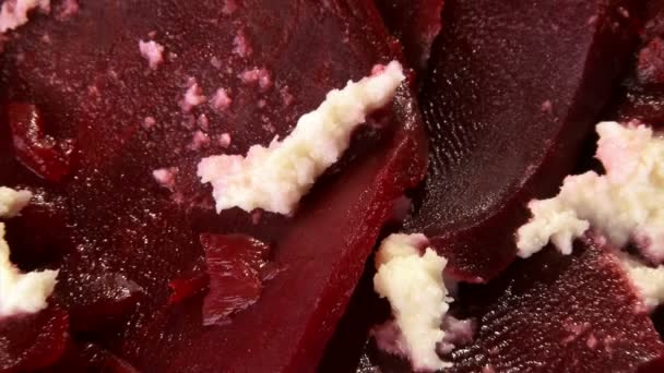 Beetroot with cream cheese