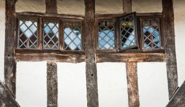 Window of Timber cottage of Lavenham, England, Suffolk, UK