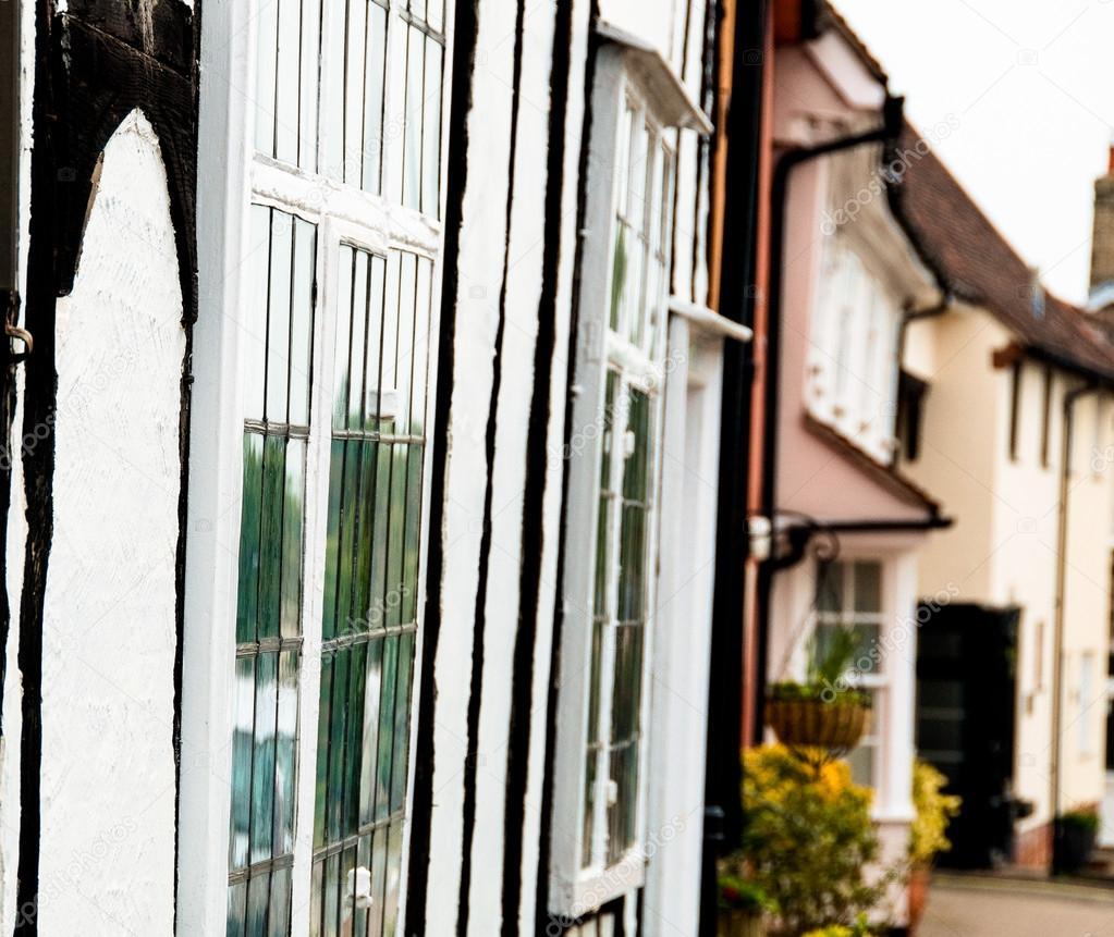 timrad stuga av lavenham, england, suffolk, storbritannien