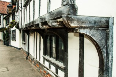 Close up of timber frame cottage Lavenham, Suffolk, England