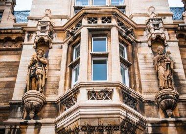 Beautiful details of Cambridge University architecture, England, Uk