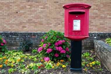 Rural royal mail british letter box