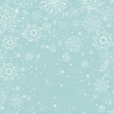 Cristmas invitation card with snowflake