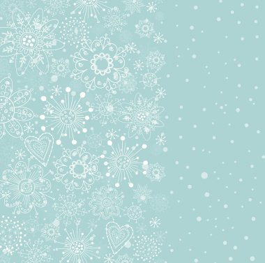 Light blue vertical cristmas background
