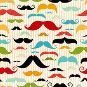 Fotografie Mustache seamless pattern in vintage style