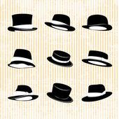 Vektorové kolekce vintage čepice