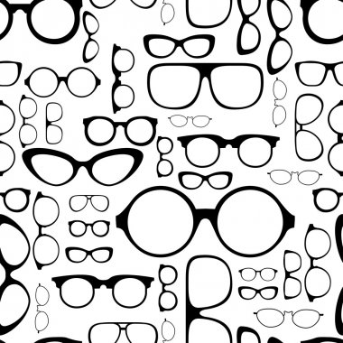 Seamless pattern from glasses stock vector