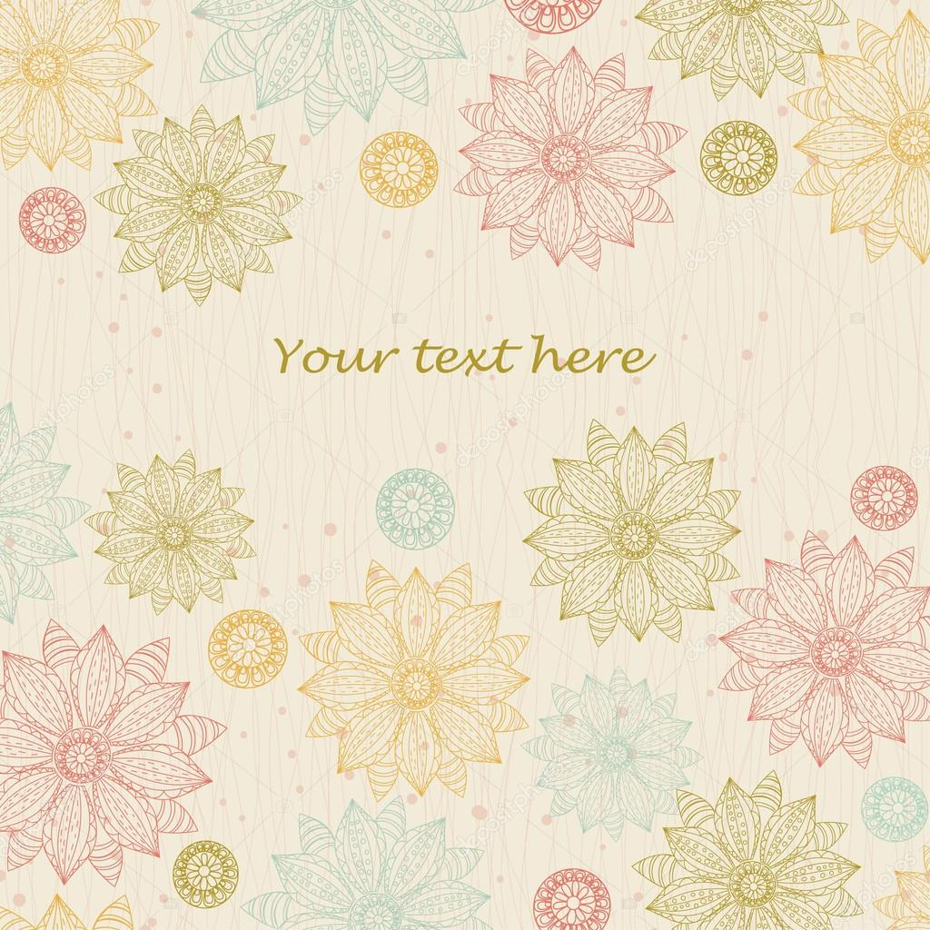 Beautiful floral background for text