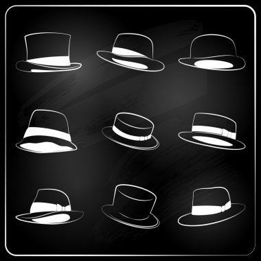 Chalkboard hipster hat collection