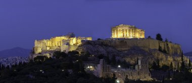 Acropolis and parthenon during sunset, Athens, Greece