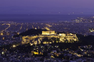 Acropolis by night,Athens,Greece