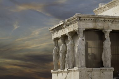 Caryatids in Erechtheum, Acropolis,Athens,Gr eece