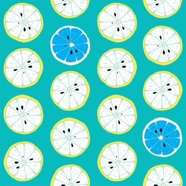 Fresh Seamless Citrus Pattern With Lemon's Pieces